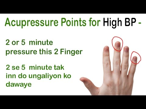 Acupressure Points for High BP👌👍 Lower High Blood Pressure in 5 Minutes 💉
