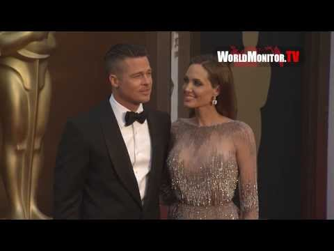 Angelina Jolie and Brad Pitt arrive at 86th Annual Academy Awards