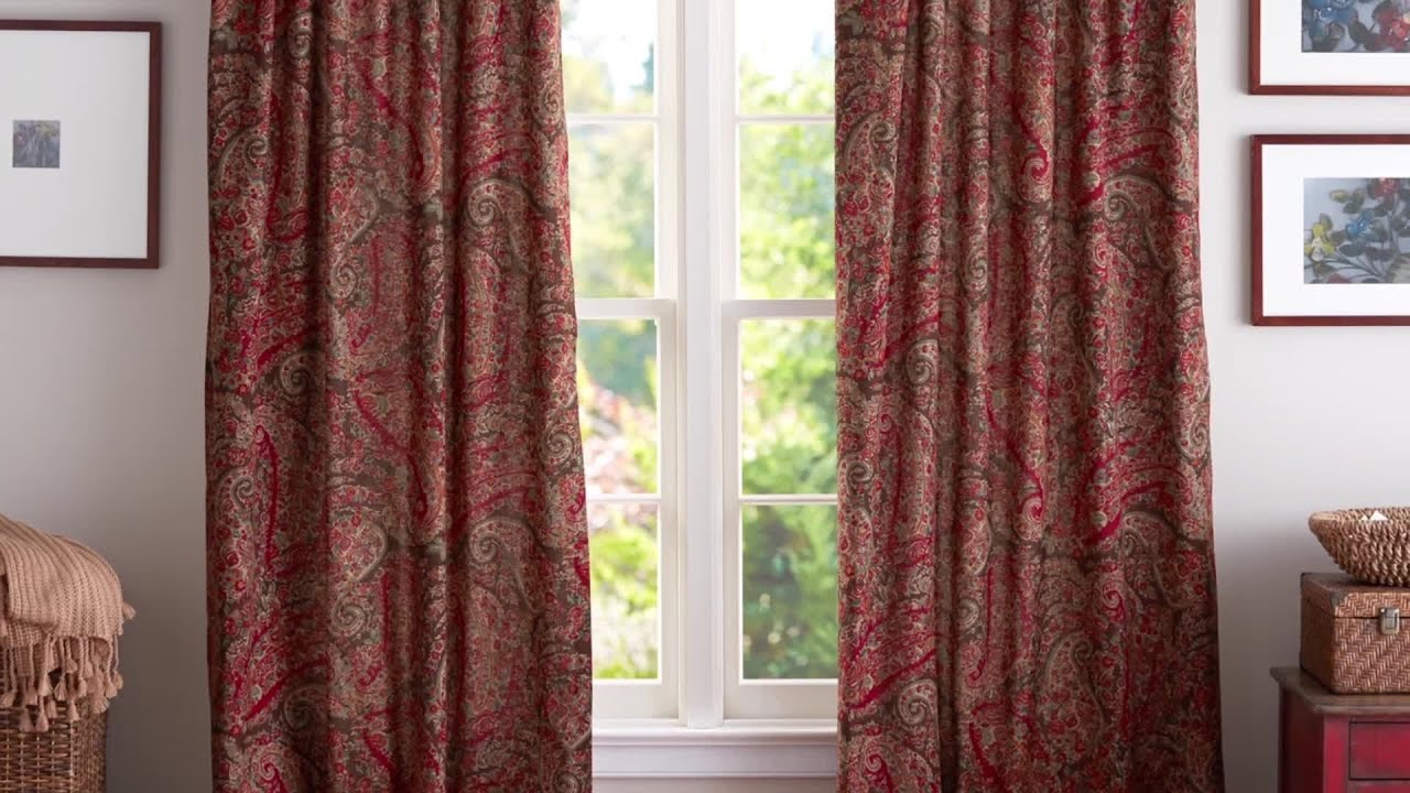 How To Hang Drapes Endearing With How to Hang Pottery Barn Curtains Photo