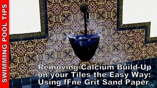 Removing Calcium Build-Up From Your Pool Tile Line The