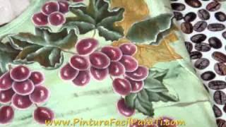 Tutorial Como Pintar Hojas De Parra En Tela 2 Pintura