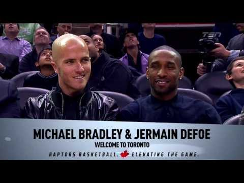 Jemain Defoe and Michael Bradley at the Raptors Game