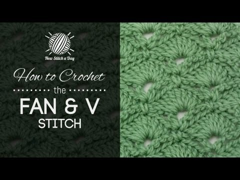 How to Crochet the Fan and V Stitch - YouTube