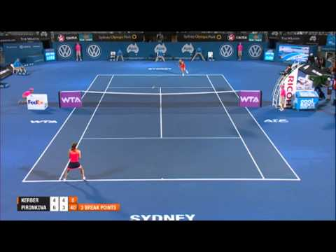 Angelique KERBER (GER) Vs Tsvetana PIRONKOVA (BUL) FINAL HIGHLIGHTS Apia International Sydney 2014