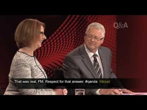 Prime Minister Julia Gillard on Q&A
