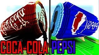 Thử Thách Xây Nhà COCA COLA VÀ PEPSI Đẹp Nhất Trong Minecraft