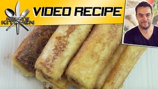 FRENCH TOAST ROLL UPS - Nicko's Kitchen