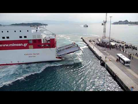 Corfu Ferry Docking
