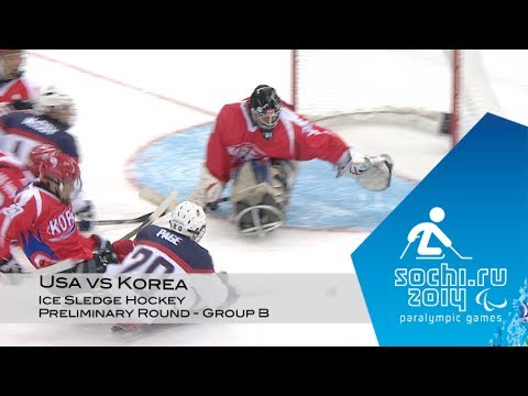 USA vs Korea highlights | Ice sledge hockey | Sochi 2014 Paralympic Winter Games