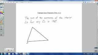 Geometry - 4.1 - Triangles and Angles