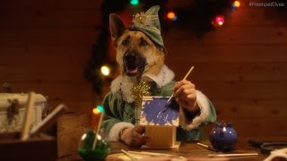 Santa's Elves – Dogs and Cats with Human Hands Making Toys