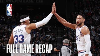 76ERS vs NETS   Ben Simmons Records Playoff Career-High   Game 3