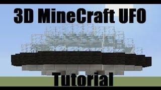 MineCraft Xbox 360 How To Build A UFO Tutorial
