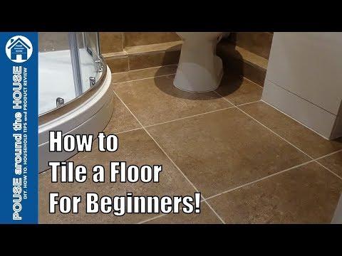 Tiling a bathroom floor toilet