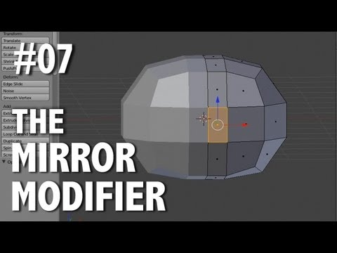 Blender 2.6 Tutorial 07 - Mirror Modifier