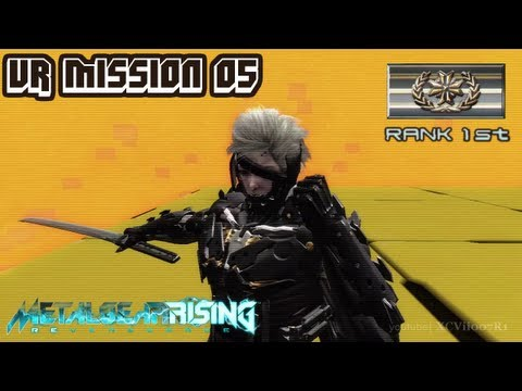 Metal Gear Rising: Revengeance - VR Mission 05 - Rank 1st (Gold) - Time: 01:29.86