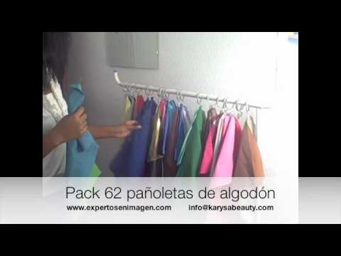 Asesoria de imagen. Pack de 62 pañoletas para asesoría de imagen