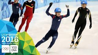 Short Track 500m - Kyunghwan Hong (KOR) wins Men's gold | Lillehammer 2016 Youth Olympic Games