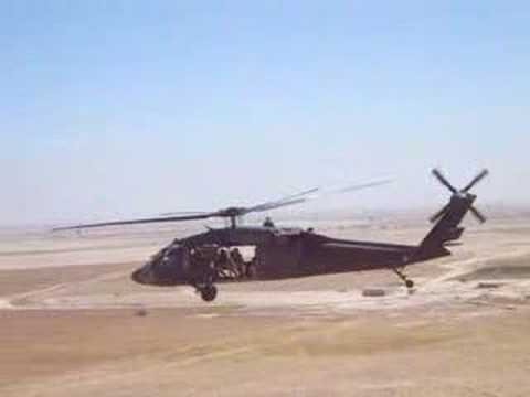Flight of two UH-60 Black Hawks Flying over Iraq OIF-III
