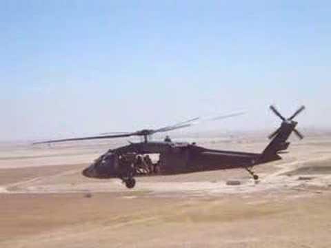 Flight of two UH-60 Black Hawks Flying over Iraq OIF-III
