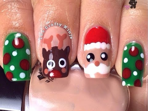 Christmas Santa Rudolph Reindeer Nails