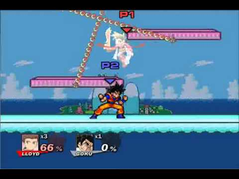 Super smash flash 2 demo v0 8a glitch goku infinite charge youtube