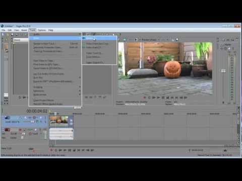 Sony vegas pro 11: How to stabilize video