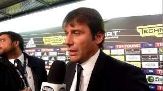 25/04/2012 - Campionato - Cesena-Juventus 0-1, intervista a Conte