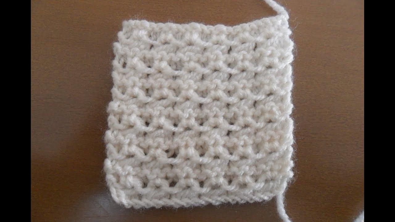 Aprende a tejer en dos agujas: punto fantasia 1 - YouTube