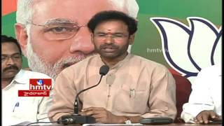 Kishan Reddy talks to the press on defeat