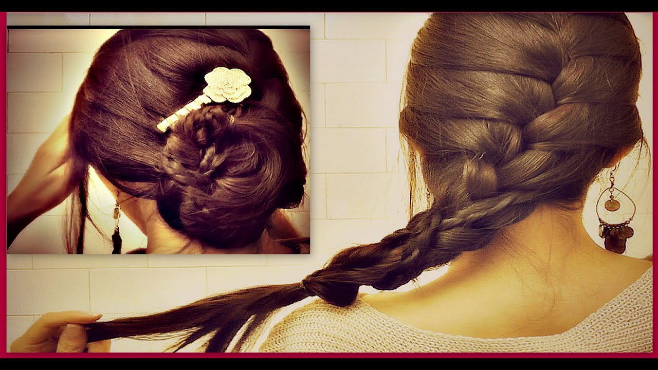 how to french braid your own hair tutorial romantic updo
