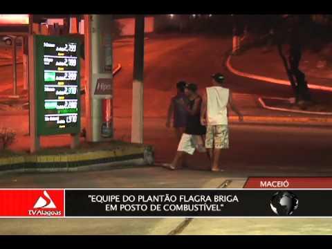 Equipe do Plantão flagra briga em posto de combustível