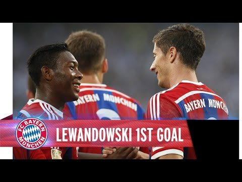 Lewandowski's first Goal - FC Bayern vs. Duisburg
