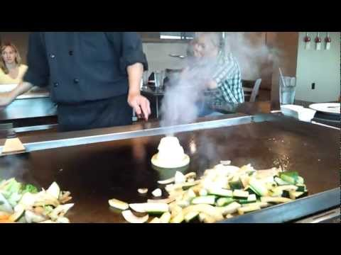 Onion volcano at Massaki Japanese Steakhouse in Staunton, Virginia
