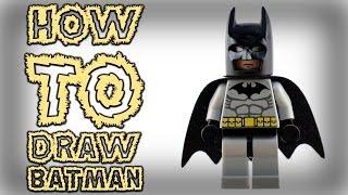 HOW TO DRAW LEGO BATMAN (THE LEGO MOVIE) EASY SPEEDART