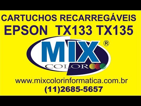 Epson Stylus TX125 TX123 TX133 E TX135 Instala O Do CIS Bulk