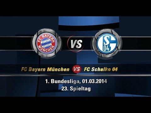 Bayern München 5:1 FC Schalke 04 | Bundesliga | 23. Spieltag | 02.03.2014 [FIFA 14 Prognose] [HD]