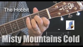 Misty Mountains Cold The Hobbit Guitar Lesson