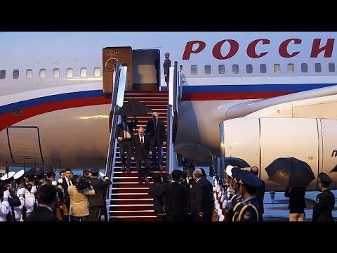 Putin arrives in China on a mutual support visit