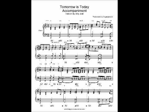 Tomorrow is Today Billy Joel Piano sheet music