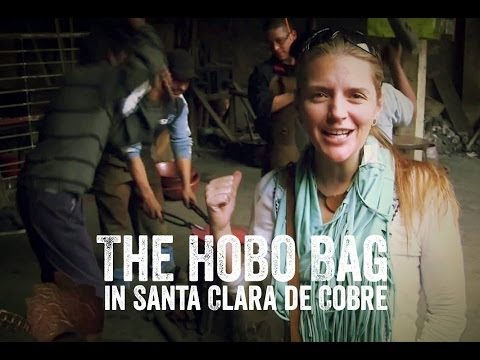 Hobo Crossbody Purse in Santa Clara del Cobre