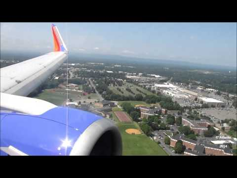 Southwest Airlines 737-3H4 [N652SW] Landing at ALB (HD)