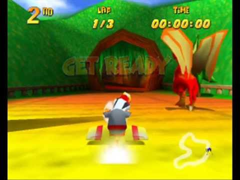 Let's Play Diddy Kong Racing German - 13 - Silbermnzen aus dem Drachenwald