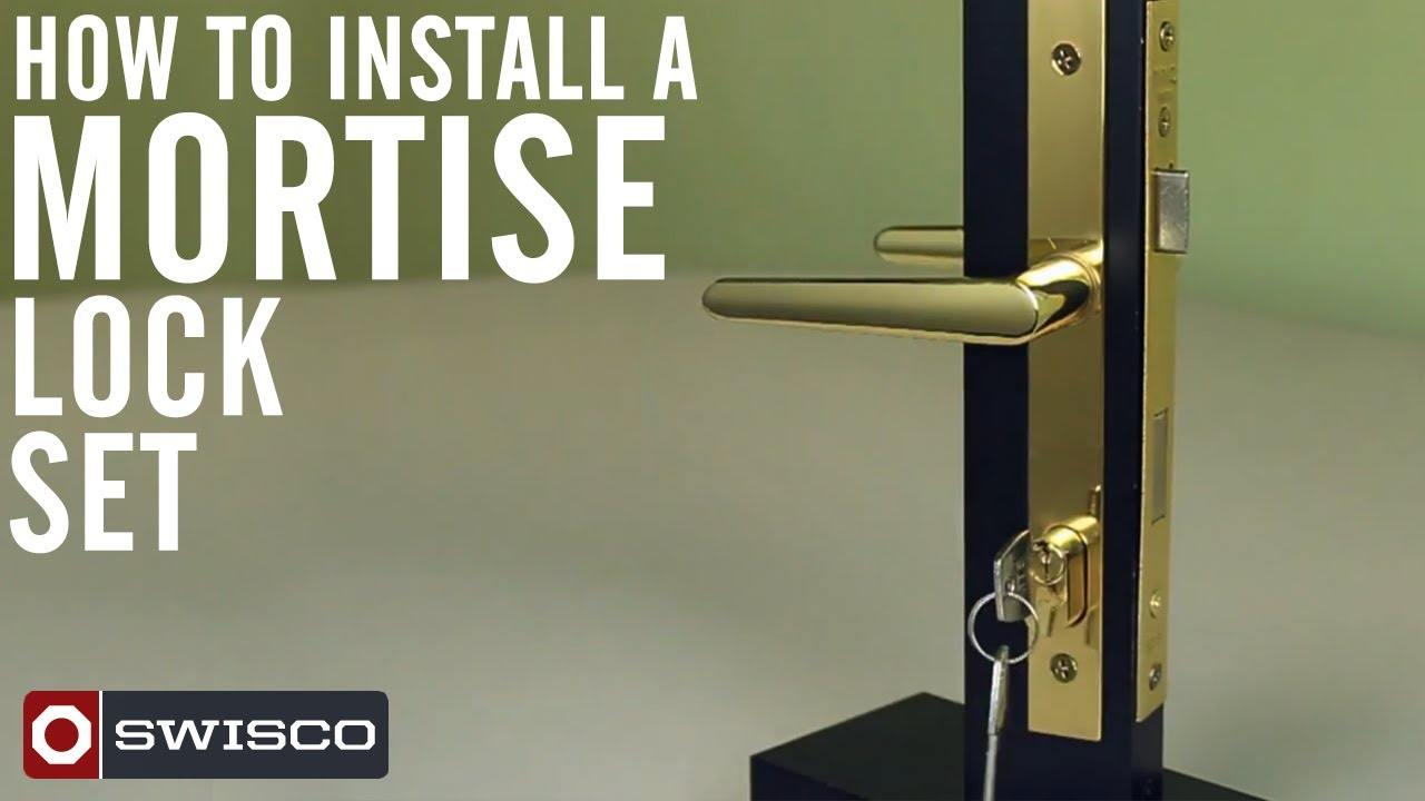 how to install the swisco 40 049 mortise lock set youtube. Black Bedroom Furniture Sets. Home Design Ideas