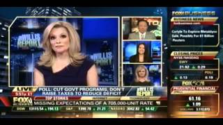 Carol Roth Fox Business John Edwards Hair + Spending Cuts vs. Taxes WIllis Report