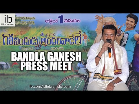 Bandla Ganesh About Govindudu Andarivadele Movie