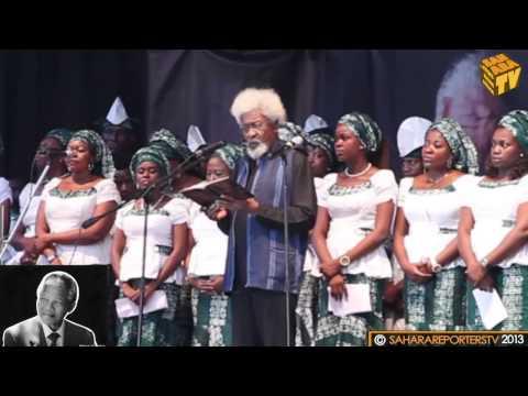 Wole Soyinka's Tribute Poem to Mandela;