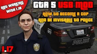 GTA 5: USB MOD How To Change To A Cop Character Skin And