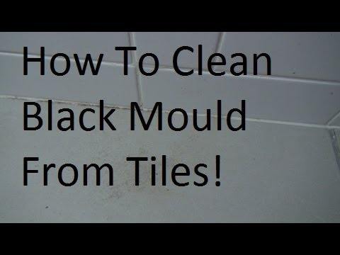 How to clean black mold mould from bathroom tiles youtube - How to remove black mold in shower ...