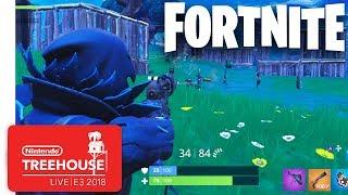 Fortnite Gameplay - Nintendo Treehouse: Live   E3 2018